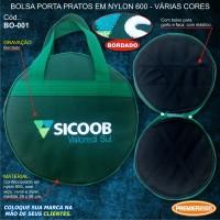 Sicoob Bolsa Porta Pratos em Nylon 600 BORDADA