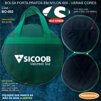 Sicoob Bolsa Porta Pratos em Nylon 600 SILK SCREEN