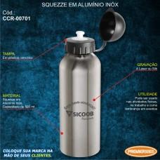 Sicoob Squeeze em Alumínio Inóx 500 ml