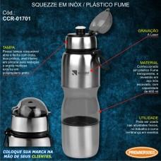 Squeeze em Inóx / Plástico Fume 600 ml