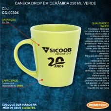 Sicoob Caneca Drop em Cerâmica 250ml Verde