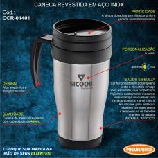 Sicoob Caneca em Inox 400ml