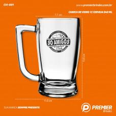 Caneca de Vidro p/ Cerveja 340 ml