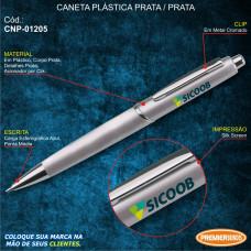 Sicoob Caneta Plástica Prata / Prata