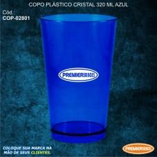 Copo Plástico Cristal 320 ml Azul