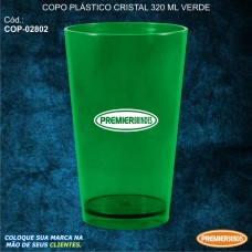Copo Plástico Cristal 320 ml Verde