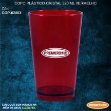 Copo Plástico Cristal 320 ml Vermelho