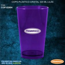 Copo Plástico Cristal 320 ml Lilás