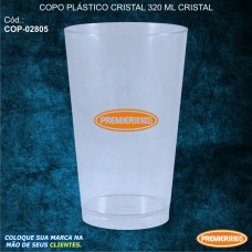 Copo Plástico Cristal 320 ml Cristal