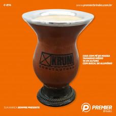 Cuia para Chimarrão Tamanho Médio com Bocal de Alumínio