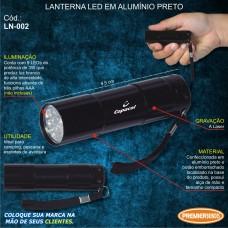 Lanterna LED em Alumínio Preto