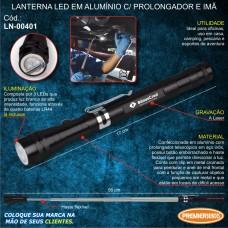 Lanterna LED em Alumínio c/ Prolongador e Imã