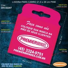 Lixeira para Carro 21,5 x 26 cm Pink