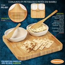 Conjunto para Petiscos e Patês em Bambu