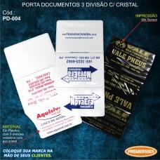 Porta Documentos 3 Divisão c/ Cristal