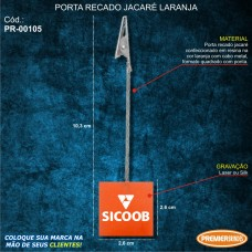 Porta Recado Jacaré Laranja
