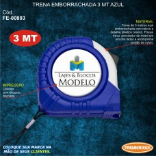 Trena Emborrachada 3mt Azul