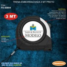 Trena Emborrachada 3mt Preto